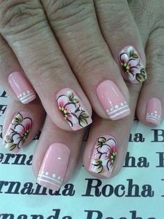 Flowers Nail Art New Idea for Spring - Reny styles Flower Nail Designs, Flower Nail Art, Cool Nail Designs, Spring Nails, Summer Nails, Luminous Nails, Pretty Nail Art, Fancy Nails, Fabulous Nails