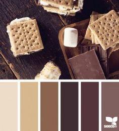 gama de colores chocolateIdeas para decorar el baño en color chocolate http://comoorganizarlacasa.com/como-decorar-un-bano-en-tonos-chocolates/