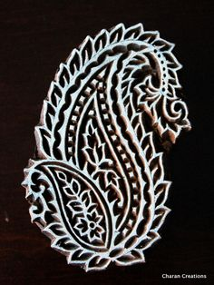 Indian Wood Block Stamp Tjaps Hand Carved stamp by charancreations, $29.50