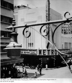 Metro Cinema Johannesburg, known for its enormous Wurlitzer organ Cinema Theatre, Lest We Forget, Theatres, Ol Days, Good Ol, Palaces, South Africa, Cities, Bridge