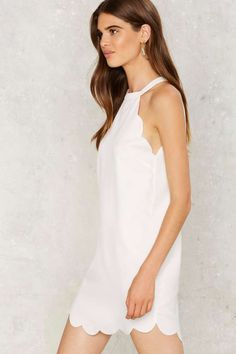 Above The Curve Halter Dress - White - Clothes | Going Out | LWD | Summer Whites