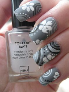 Abstract in matte (inspired by Valera) - Nail Art Gallery by NAILS Magazine