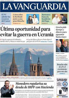 Diario LA VANGUARDIA del 6 de Febrero 2015 Recordamos que pueden visualizar cada día las principales portadas titulares ocurridos en España - Catalunya - Barcelona en http://www.youtube.com/vendopor