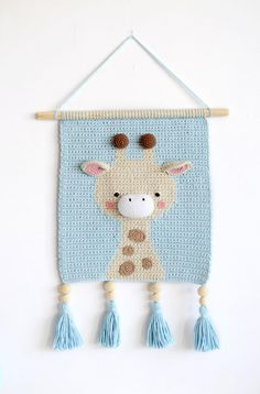 Cute Crochet, Crochet For Kids, Crochet Motif, Crochet Patterns, Crochet Decoration, Crochet Home Decor, Nursery Wall Decor, Baby Decor, Room Decor