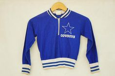 Vintage 80s Child Size 6-8 Years Dallas Cowboys NFL
