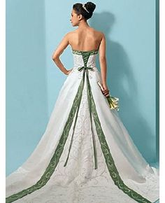 Christmas Wedding dress. I did green, white, and red in this style.