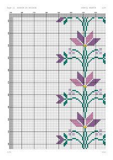 Kanaviçe-dantel işleri: Mor çiçekli seccade örneği- kanaviçe seccade Cross Stitch Patterns, Arabesque, Cross Stitch Embroidery, Towels, Tablecloths, Navidad, Embroidery, Cross Stitch Designs, Counted Cross Stitch Patterns