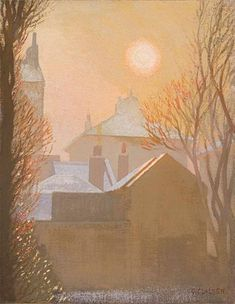 A Winter Morning in London by Sir George Clausen 1924 Oil on Canvas