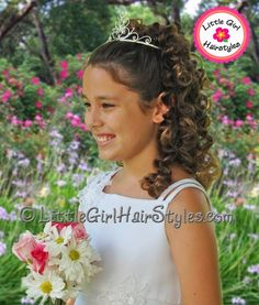 Girls princess tiara hairstyle -- step by step instructions!