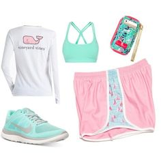 A fashion look from February 2015 featuring Vineyard Vines t-shirts, Lorna Jane sports bras and NIKE shoes. Browse and shop related looks. Athletic Outfits, Athletic Wear, Sport Outfits, Summer Outfits, Casual Outfits, Cute Outfits, Athletic Clothes, Summer Shoes, Winter Outfits