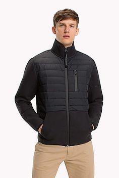 Mixed Media Jacket Blue Polo Shirts, Boys Shirts, Cool T Shirts, Men's Coats And Jackets, Outerwear Jackets, Winter Jackets, Bomber Jacket Men, Hoodie Jacket, Mens Outdoor Jackets