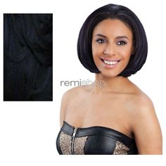 Equal (SNG) Drawstring Full Cap Envy Girl - Color OPBLUEBLACK - Synthetic Drawstring Half Wig