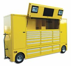 Deluxe yellow mega tool chest.
