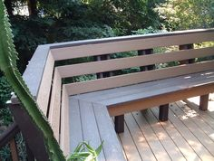 Built In Deck Benches With Backs | Home Design Ideas