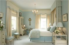 Traditional style bedroom decor. To explore more French Country Style, click on the image above.
