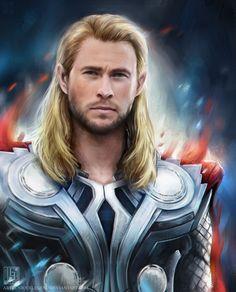 Thor by =uniqueLegend on deviantART (Thor Odinson, Chris Hemsworth, Avengers Fanart) Avengers Cast, Marvel Avengers, Marvel Fan, New Iron Man, Female Thor, Lady Loki, Chris Hemsworth Thor, Avengers Imagines, Avengers Pictures