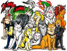 anime wolves fighting   Home - Wolf Pack Rp