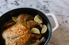 This whole roast chicken is great with a side of asparagus, broccolini, or  cauliflower mash.It's an easy and delicious comfort food that's perfect  for a night at home or when you have friends over.  Makes 2 to 4 servings, depending on the size of the bird      * 1 tablespoon dried rosemary
