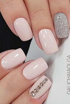 Wedding Designs Stunning Wedding Nail Designs To Inspire You picture 6 - Looking for some wedding nails inspiration? Our collection of exquisite ideas will help you complete your bridal look. Save these ideas for later. Elegant Nail Designs, Elegant Nails, Bride Nails, Prom Nails, Nails For Brides, Gorgeous Nails, Pretty Nails, Acrylic Nail Designs, Nail Art Designs