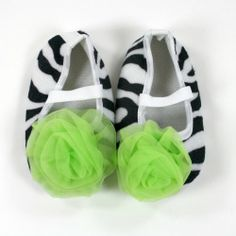 Baby Shoes Animal Print with Chiffon Rosette infant booties (0-3 months bb644b5e7b