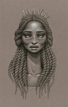 MoonDust is a stunning mini series of drawings by artist Sara K. Golish as an ode to Afrofuturism and natural hair.