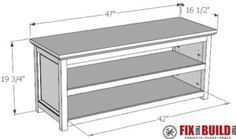 DIY Entryway Shoe Storage Bench Plans