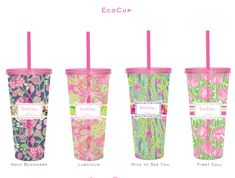 Lilly Pulitzer Cups- Great stocking stuffer!