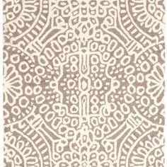 Temple Taupe Wool Micro Hooked Rug $318