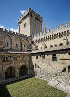 Interior courtyard of the Palace of the Popes in Avignon, France 14th century CE | Flickr - Photo Sharing!