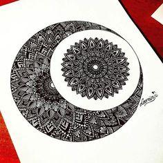 Art by . Doodle Art Drawing, Cool Art Drawings, Zentangle Drawings, Mandala Drawing, Pencil Art Drawings, Mandala Art Lesson, Mandala Doodle, Mandala Artwork, Mandala Painting