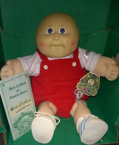 Cabbage Patch Kid Woodward Rhett 1985 Bald UT2 Boy Blue Eyes Red Elephant Romper
