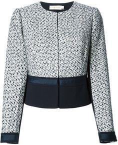 Tory Burch 'Lucille' panelled tweed jacket