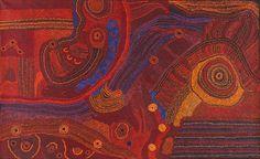 Tjungkara Ken 488-14 Seven Sisters, 2014 acrylic on linen 122 x 198 cm