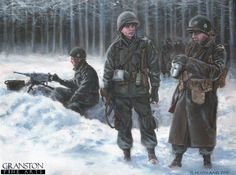 Bastogne, 25th december 1944. U.S. Paratroopers of Easy Company, 2nd Battalion, 506th PIR, 101st Airborne