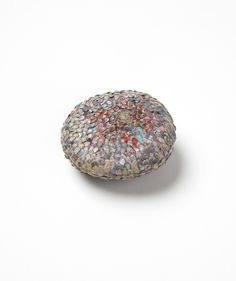 """Carina Shoshtary; """"Nugget""""; Brooch, 2015; Graffiti, silver, stainless steel."""