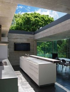 modern outdoor kitchen - Google Search