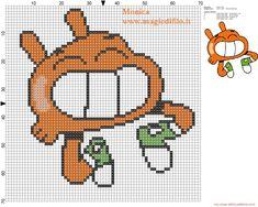 Happy Darwin cross stitch pattern