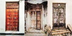 handcrafted wooden doors in Stonetown, Zanzibar