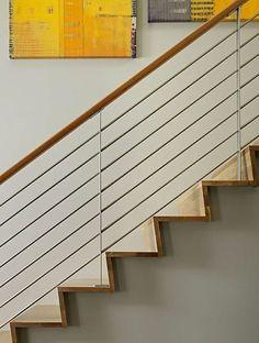 treppen designideen geländer aus metall und holz