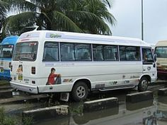 Suriname transportation: a bus they also use a lot of cars too!
