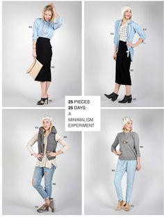 wardrobe 25, a minimalist fashion experiment.