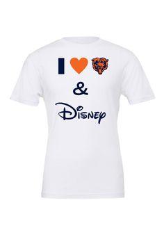 I Love The Bears and Disney / Chicago Bears / Bears and Disney