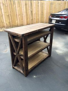 TV Stand Custom Built At Wooden Wonders, Waveland, In