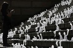 azevedos ice sculptures of melting men - Recherche Google