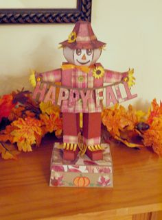 Paper Happy Fall Scarecrow (www.svgcuts.com file)