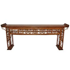 1stdibs | 19th c. Chinese Yew and Bamboo Console Table