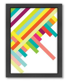 Another great find on #zulily! Spring Geometry  Wall Art #zulilyfinds