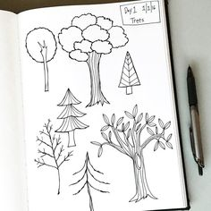 I'm kick starting my 2016 art practice with @lisacongdon. I'm taking part in her 31 Things to Draw Drawing Challenge. Today's subject was a tree. Some of these were inspired by Lisa's drawings, some are out of my head. Looking forward to someone telling me what to draw for 31 days!