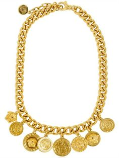 VERSACE   MEDUSA GOLD PLATED METAL CHAIN NECKLACE