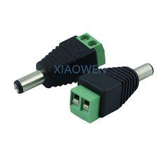 5PCS  Female DC Power Jack Connector Plug Adapter 5.5x2.1mm For 5050 3528 Single Color LED Strip Light for CCTV Camera
